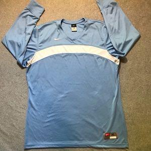 Nike baby blue XL warm up shirt